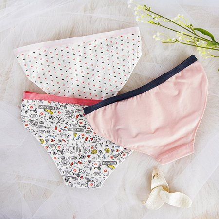 3 pack of colorful women's patterned briefs - Underwear