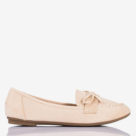 Beige loafers with a bow Sweet Nothing - Footwear 1