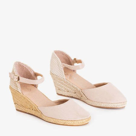 Beige women's sandals espadrilles on a wedge Roberia - Shoes