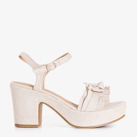 Beige women's sandals on the Venis post - Footwear