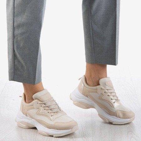 Beige women's sneakers Dossa - Footwear 1