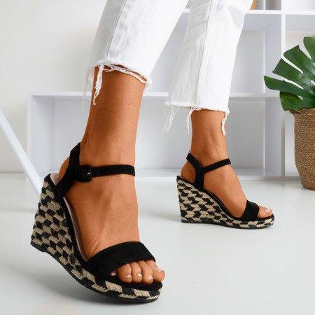 Black Porcissa wedge sandals - Footwear