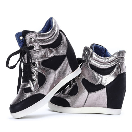 Black and silver wedges Nistkas - Footwear 1