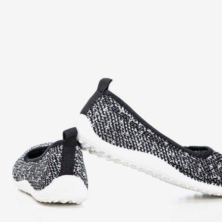 Black and white Mesidla women's slip-on sneakers - Footwear