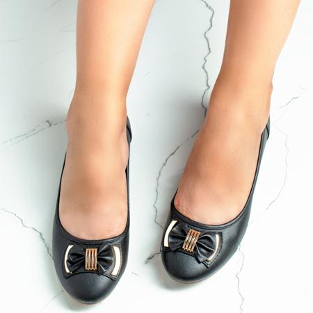 Black ballerinas with a Gascona bow - Footwear 1