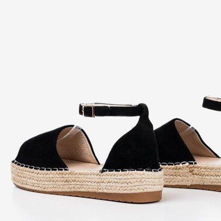 Black espadrilles with Narilina cut-out platform - Footwear