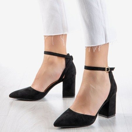 Black pumps on a higher post Party Time - Footwear