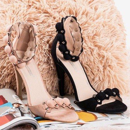 Black sandals on a high heel Poliase - Footwear