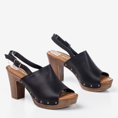 Black sandals on a taller post Madella - Footwear