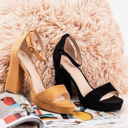 Black sandals on the higher post Troelia - Footwear 1