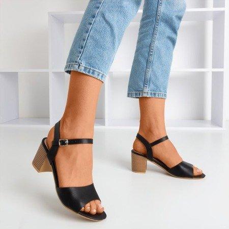 Black sandals on upper Loaha post - Footwear
