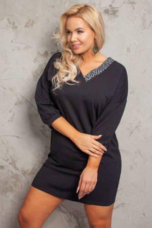 Black simple dress PLUS SIZE - Clothing