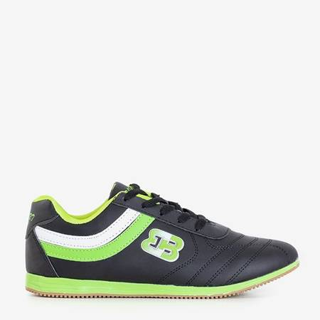 Black sports shoes with green Idena inserts - Footwear