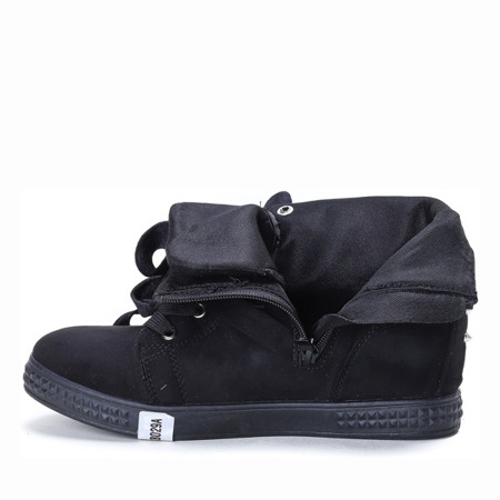 Black wedge sneakers with Savannah studs - Footwear