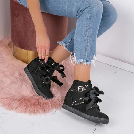 Black wedge sneakers with Savannah studs - Footwear