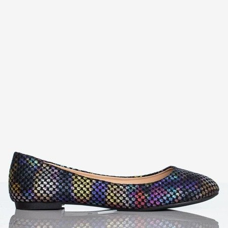 Black women's ballerinas with colorful Farben finish - Footwear 1