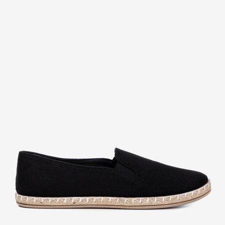 Black women's espadrilles from Melicija eco-suede - Footwear 1