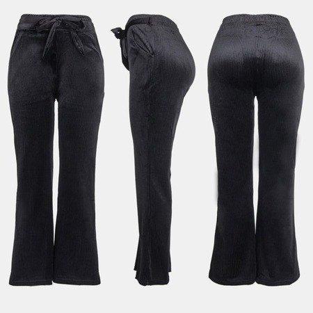 Black women's straight trousers - Pants 1