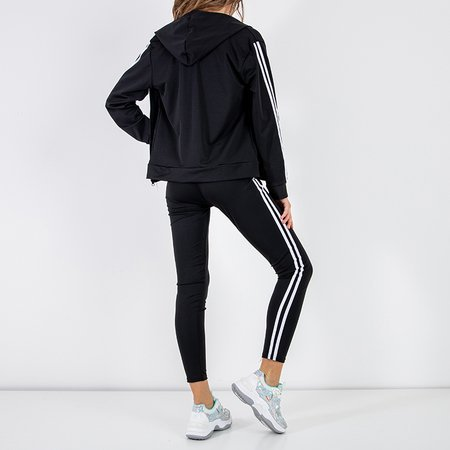 Black women's 3 piece sports set - Clothing