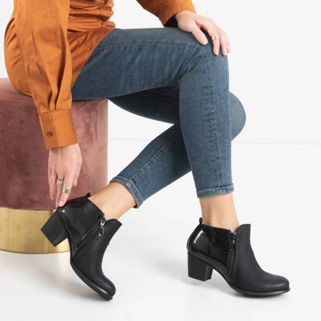 Black women's ankle boots on the Idwin post - Footwear