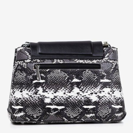 Black women's handbag a'la snake skin - Handbags