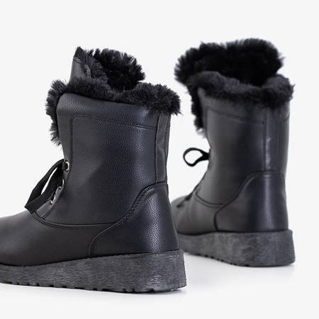 Black women's snow boots with fur Cool Breeze - Footwear