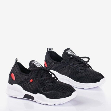 Black women's sports shoes with shiny Murcia inserts - Footwear 1