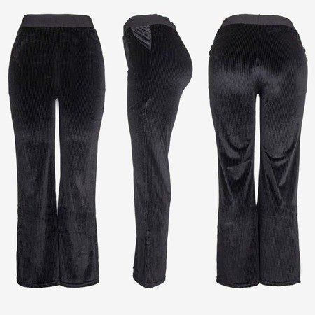 Black women's straight pants - Trousers 1