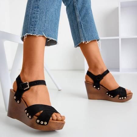 Black women's wedge sandals Susannah - Footwear