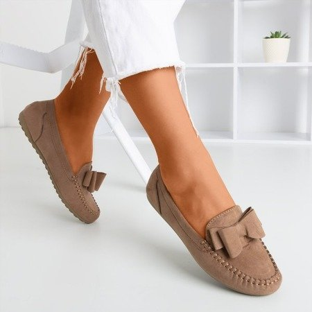 Brown loafers for women with Ursula bow - Footwear 1