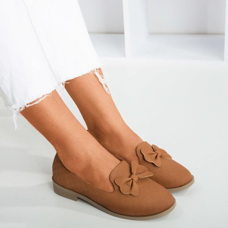 Brown loafers with Flavisa bow - Footwear 1