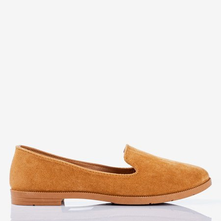 Brown loafers women's eco-suede Mossolia - Footwear 1