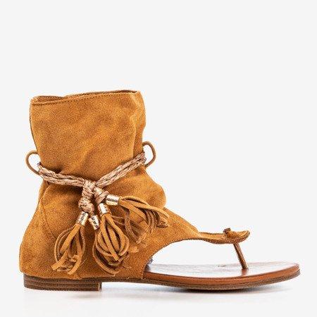 Brown sandals with Semara upper - Footwear