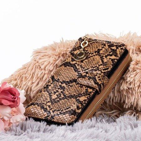 Brown women's wallet a'la snakeskin - Wallet
