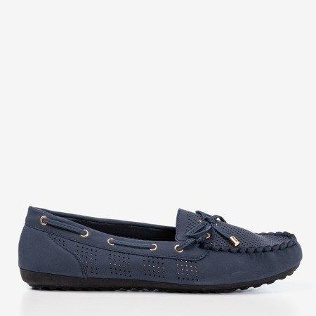 Dark blue loafers with bow Orisa - Footwear 1
