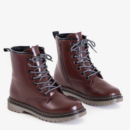 Dark brown women's eco-leather boots Lesita - Footwear