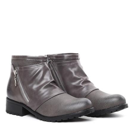 Gray boots with elastic upper Sorena - Footwear