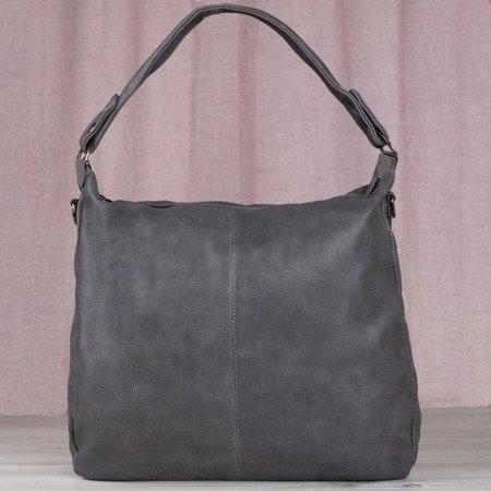 Gray large shoulder bag for women - Handbags