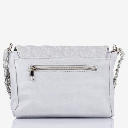 Gray quilted small shoulder bag - Handbags