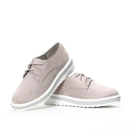 Gray tied creepers by Devestva - Footwear