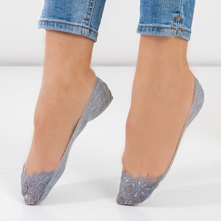 Gray women's lace socks - Socks
