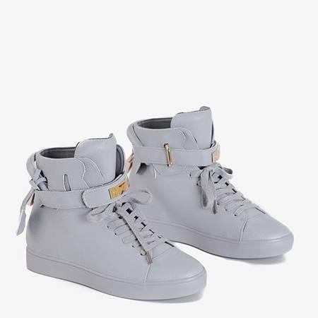 Gray women's lace-up sneakers Pillar - Footwear