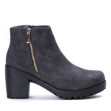 Grey ankle boots eco - suede Amika - Shoes