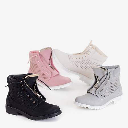 Ice Love pink women's openwork hiking boots - shoes