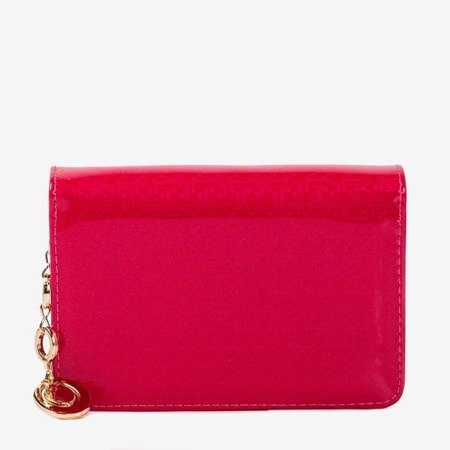 Lacquered small women's wallet in pink - Wallet