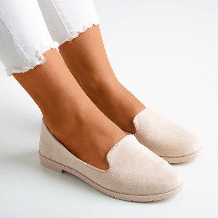 Ladies 'beige eco-suede loafers Mossolia - Footwear