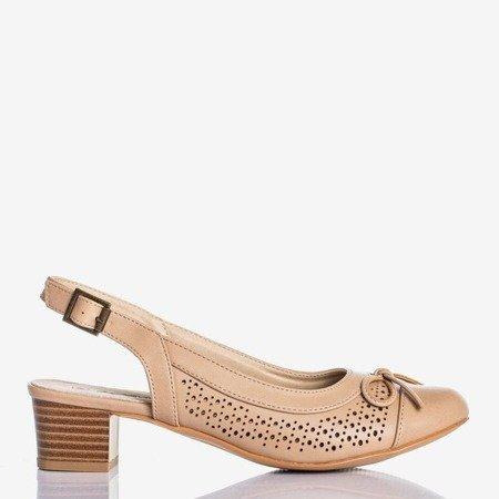 Lecaone Camel Women's Low Heel Sandals - Footwear