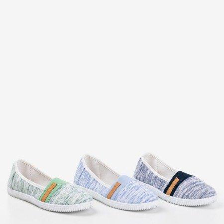 Light blue slip-on sneakers with stripes Arimida - Footwear 1