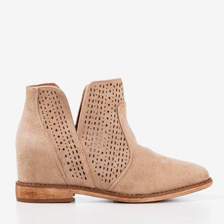 Light brown ankle boots a'la cowboy boots Besis - Footwear