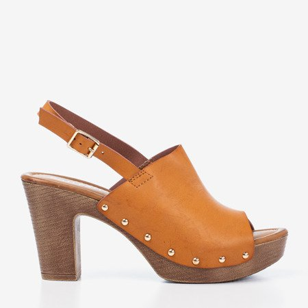 Light brown sandals on a higher Madella post - Footwear 1